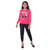Genius  Girls Full Sleeves 2pcs Jog Set ,Fuchsia/Navy