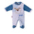 Smart Baby Baby Boys Sleepsuit With Feet,Blue/White