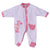 Smart Baby Baby Girls Sleepsuit With Feet ,White/Pink