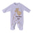 Smart Baby Baby Boys Sleepsuit With Feet ,White/Beige