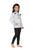 Genius Girls Full Sleeves Sweat Shirt With Legging,White/Black