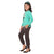 Genius  Girls Full Sleeves 2pcs Jog Set ,Sea Green/Grey