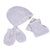 Smart Baby Baby Girls  Boxed Gift Set, White/Grey