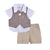 Wonderchild Infant Boys 3pcs Set, Light Brown/White