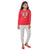 Genius  Girls Full Sleeves 2 pcs Jog Set ,Red/Grey