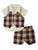 Wonderchild Infant Boys 3pcs Set, Brown/ Light Yellow