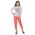 Genius  Girls Full Sleeves 2 pcs Jog Set ,Ercu Melange/Coral