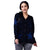 Step N Style Women Full Sleeve Front Open Cardigan , Black