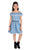 Flower Girl Girls Denim Dress,Denim Blue MCG367G19