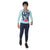 Genius Boys Full Sleeves T-Shirt With Jogger Pant,Light Blue/Navy