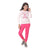 Genius  Girls Full Sleeves 2 pcs Jog Set ,Pink/Fuchsia