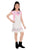Flower Girl Girls Dungaree With Top, Grey/PInk MCG743