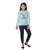 Genius  Girls Full Sleeves 2 pcs Jog Set , Light Blue/Navy
