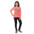 Genius Girls Full Sleeves T-Shirt, Coral
