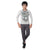 Genius Boys Full Sleeves T-Shirt With Jogger Pant,Grey