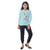 Genius  Girls Full Sleeves 2 pcs Jog Set ,Light Blue/Navy
