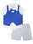 Wonderchild Infant Boys 3pcs Set, Blue/White/Grey