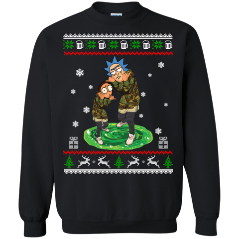 Supreme Rick and Morty Ugly Christmas Sweatshirt