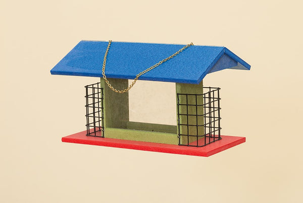 Poly Rectangle Hanging Bird Feeder
