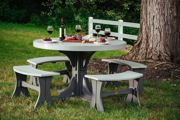 Poly 4' Round Table Set