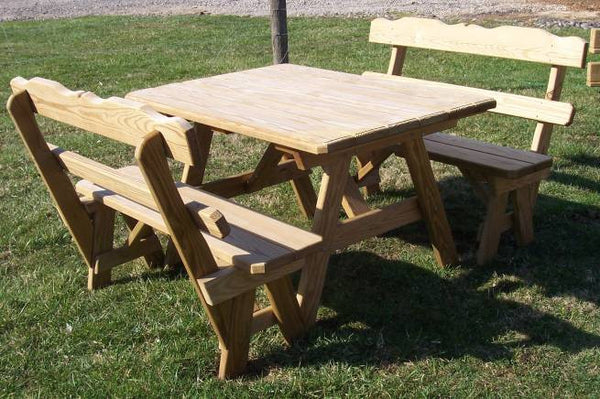 Wooden Rectangle Table Set
