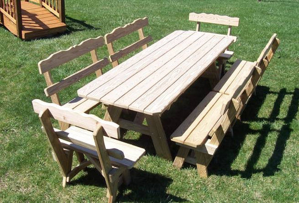 Traditional Picnic Table Set