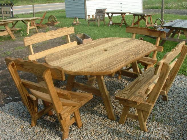 Wooden Oblong Table Set
