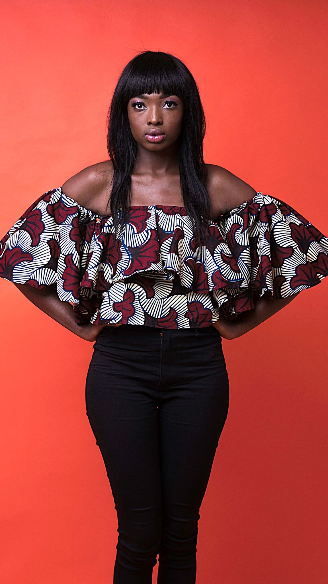 Alicia African Print Top