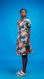 Bushra African Print Wrap Dress