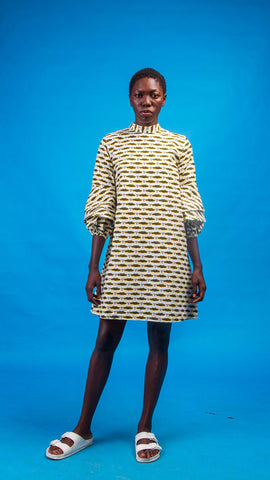 Chinue African Print Shirt Dress