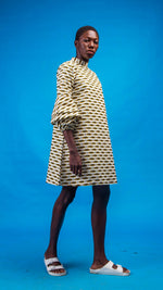 Chinue African Print Shirtdress - Atelier D'Afrique