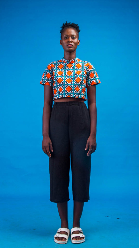 Edu African Print Crop-Top