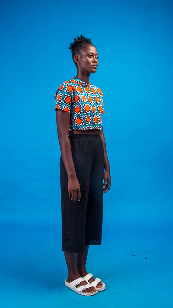 Edu African Print Crop-Top - Atelier D'Afrique