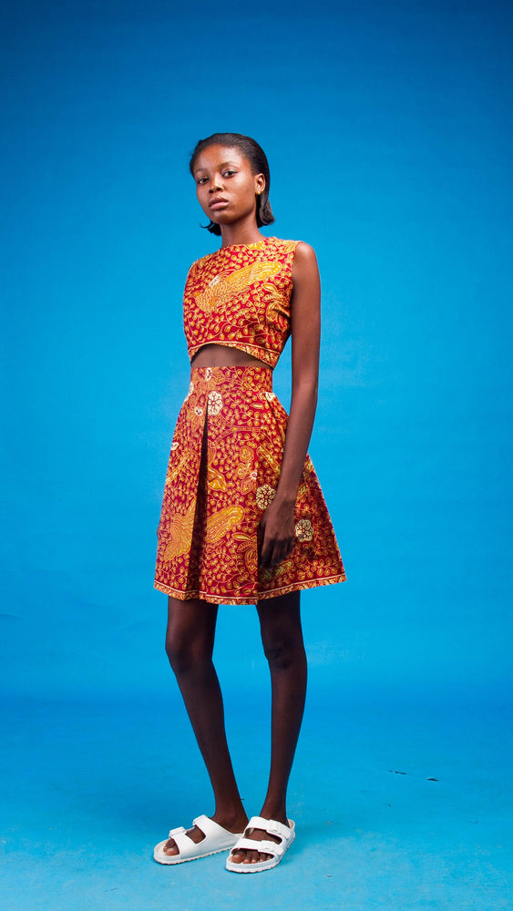 Leticia African Print Two Piece - Atelier D'Afrique