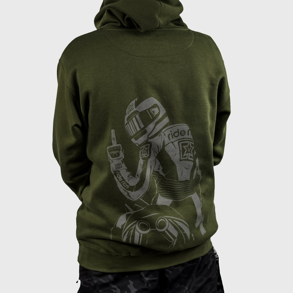 Pursuit of Happiness Pullover Hoodie {Military Green}
