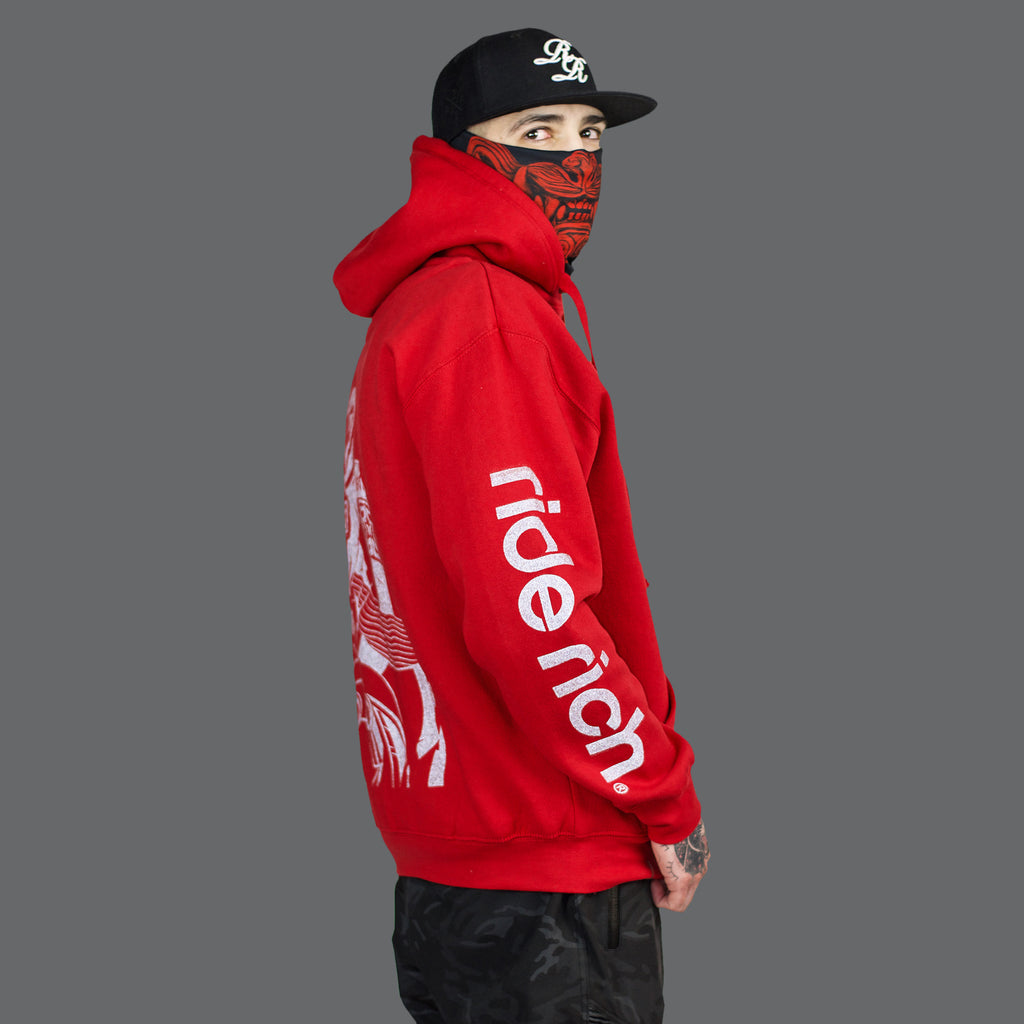 Pursuit of Happiness Pullover Hoodie {Red}