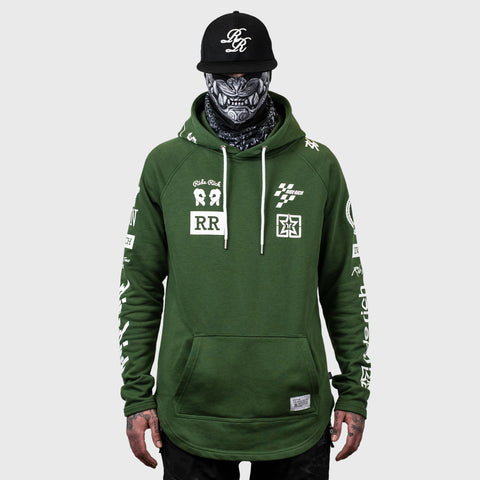 Branded V2 Scoop Pullover Hoodie {Military Green}