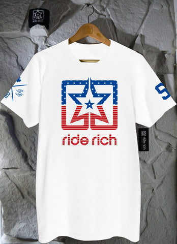 United We Ride White Limited Edition Tee View 2 - Motorcycle T-shirt
