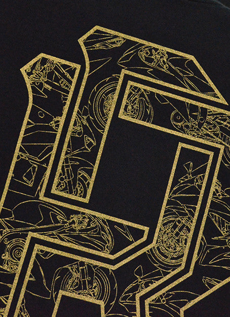 The 600 Club Gold on Black Tee View 6 - Motorcycle T-shirt