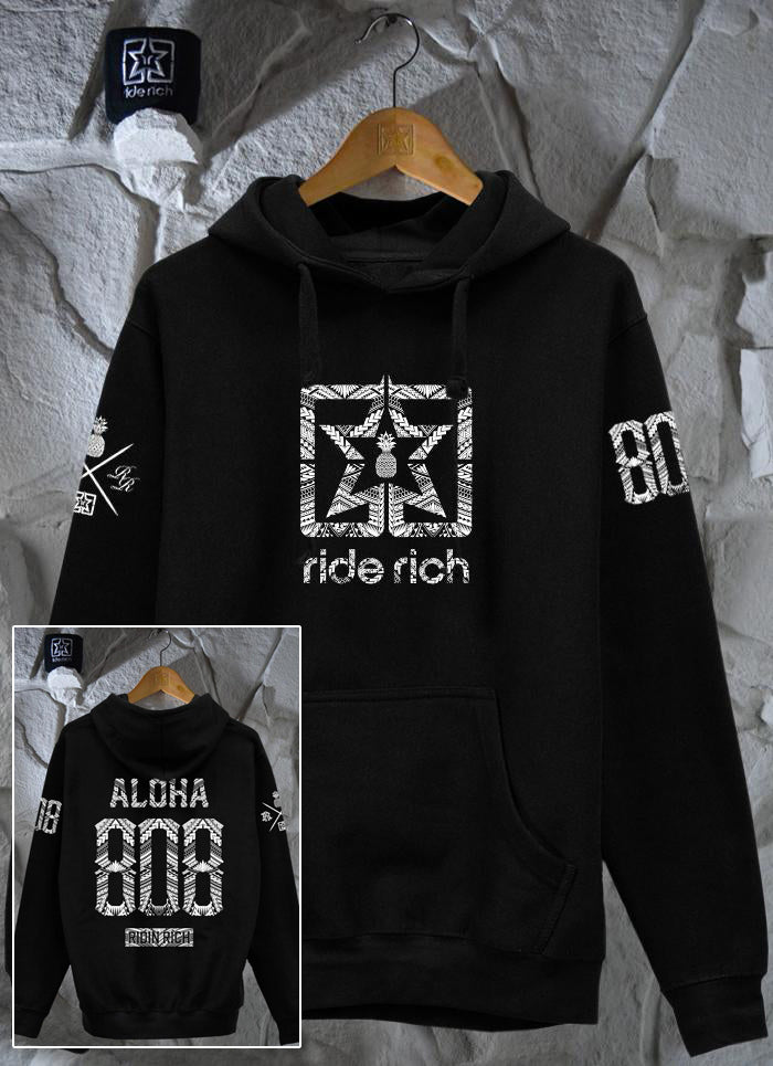 Home Grown 808 Edition Pullover Hoodie {Black}