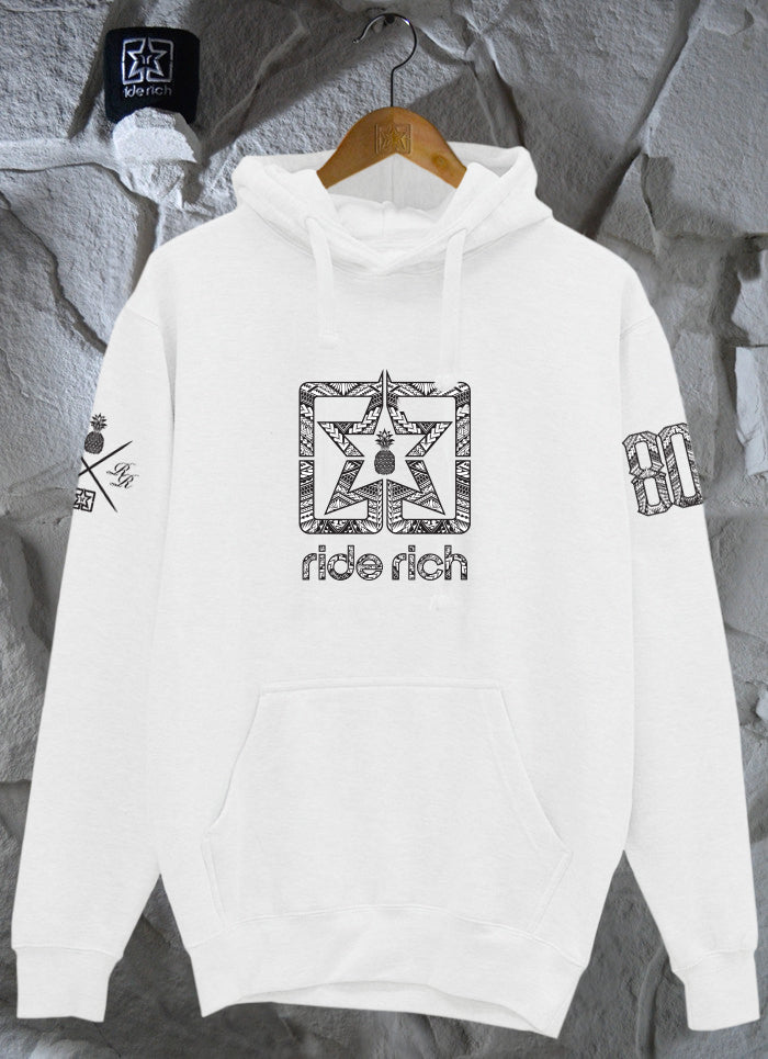 Home Grown 808 Edition Pullover Hoodie {White}