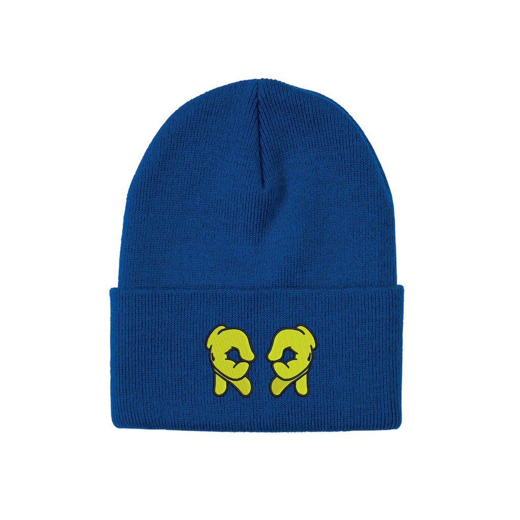 Rep Life On Two Knit Beanie {Blue/Yellow}