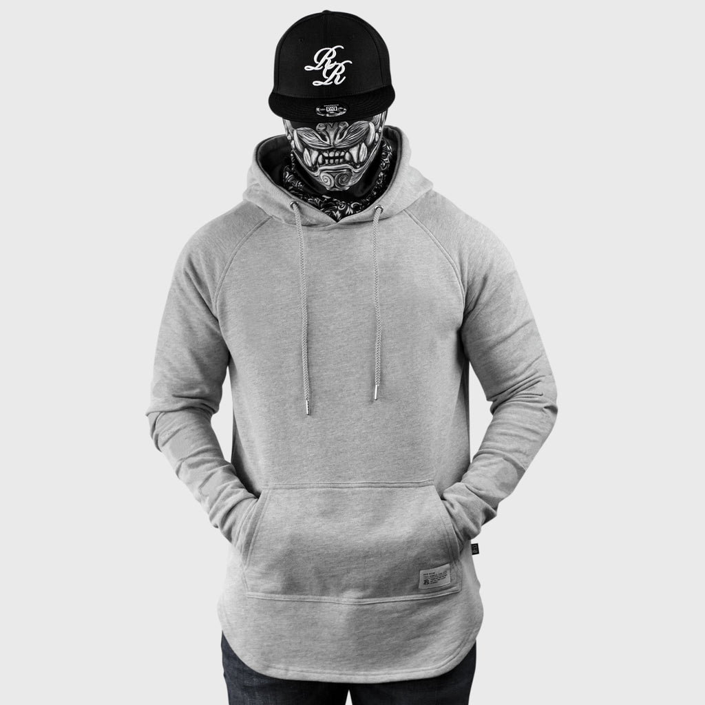Blank Scoop Pullover Hoodie {Heather Grey}