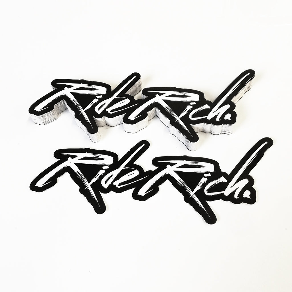 Ride Rich Brushed Vinyl Sticker {Large}