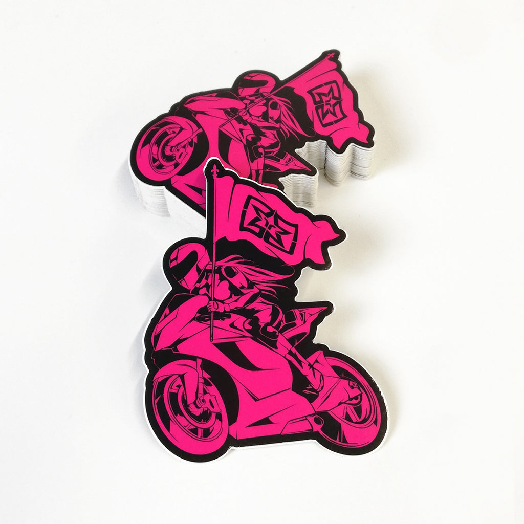 Ride Rich Like Champions Vinyl Sticker {Pink}