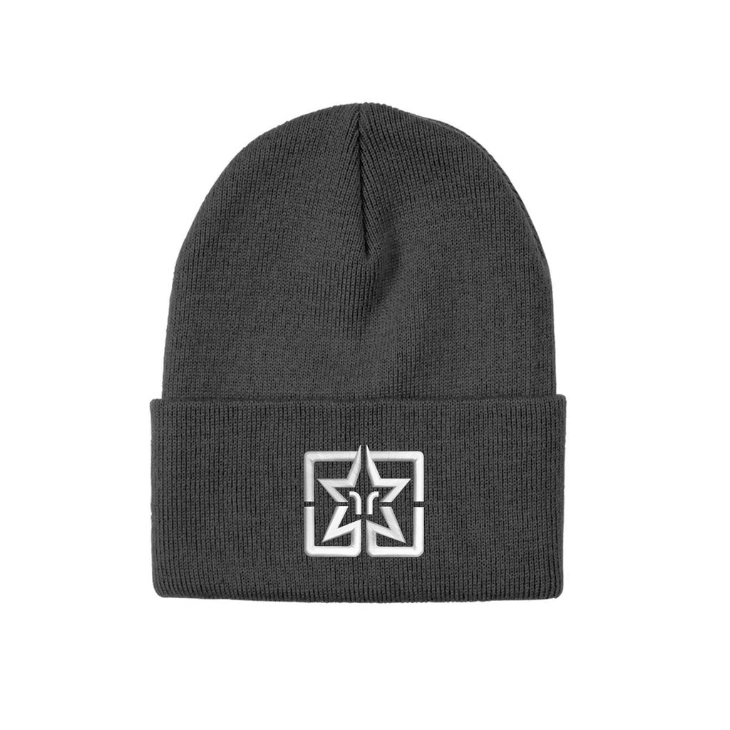 Ride Rich Emblem Knit Beanie {Grey}