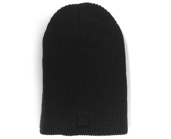 Ride Rich Emblem Long Knit Beanie {Black}