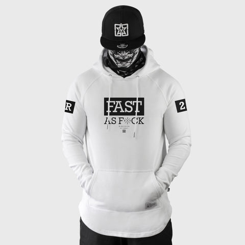 Been Fast Scoop Pullover Hoodie {White}