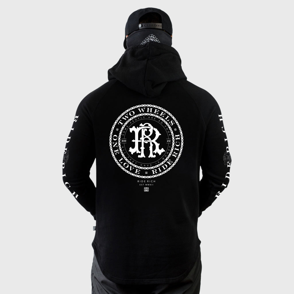 RR Filigree & Chains Scoop Pullover Hoodie