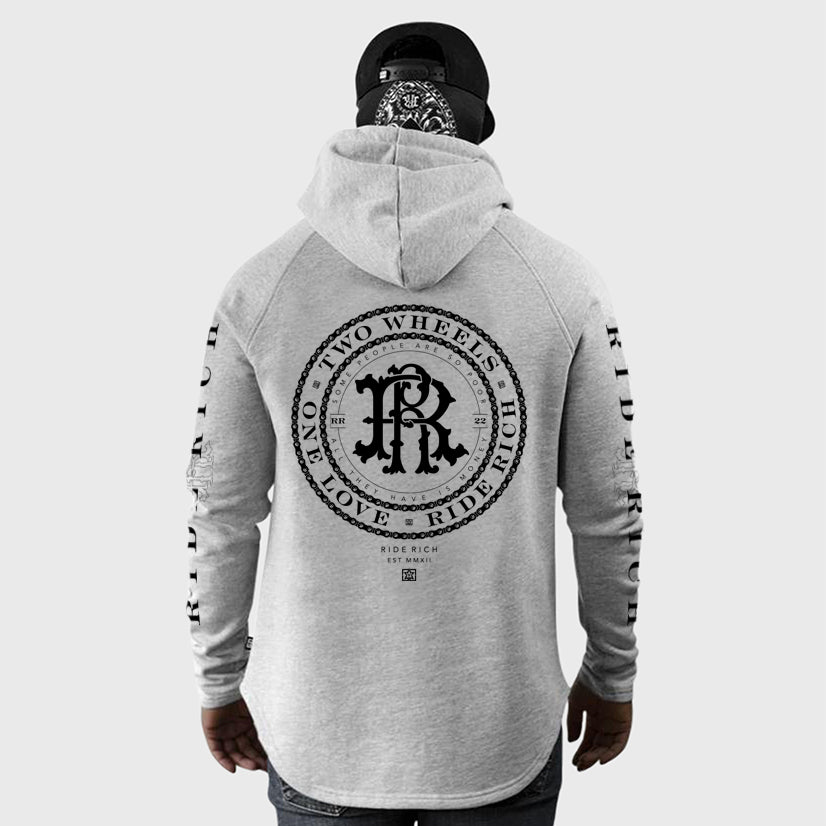 RR Filigree & Chains Scoop Pullover Hoodie {Heather Grey}